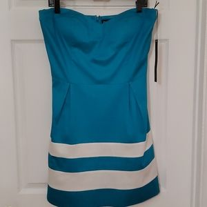 Bebe Turquoise Strapless Dress, Size L